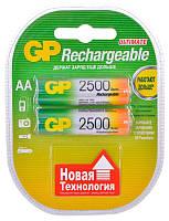 Аккумулятор GP AA (R6) 2500mAh NiMh 2шт (250AAHC)