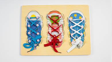 Деревянная шнуровка.5512