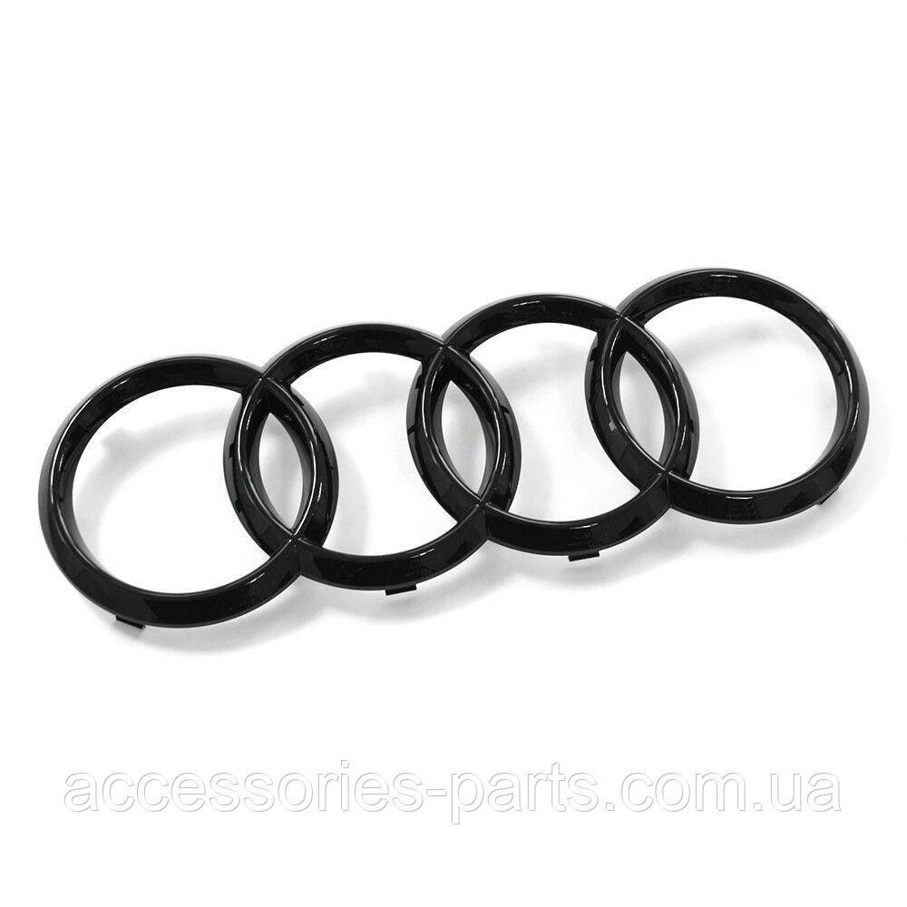 Эмблема Решетки Радиатора  Audi Black Edition Новая Оригинальная