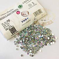 Стразы YHB Lux, цвет Crystal AB, ss16 (3,8-4мм), 100шт