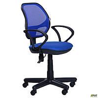 Кресло Чат/АМФ-4 сиденье А-21/спинка Сетка синяя ТМ АМФ