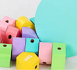 """Деревянная развивающая игрушка """"Сотер"""" ведро, логика с 12-ю геометрическими фигурами, фото 4"""