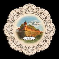 """Тарілка дерев`яна. м. Дубно. """"Дубенський замок"""""""