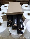 Стретч плівка для ручного пакування 20 мкм 2,0/2,2 кг чорна, композит, фото 3