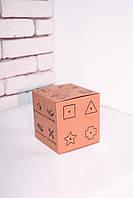 Коробка Кубик. Эко-коробка куб для бизиборда, сувенира. Размеры 125*125*130 мм.
