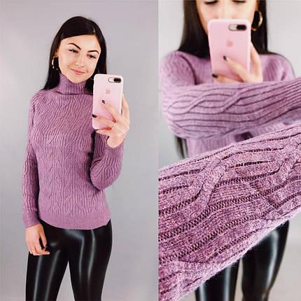 """Элегантный женский свитер  """"Кашемир"""" 46 размер норма, фото 2"""