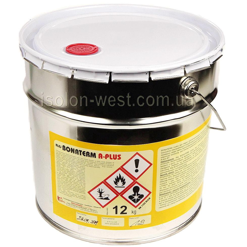 Клей автомобильный Bonaterm A-PLUS 15л. полихлоропреновый для тканей, кожзама  Польща 12кг
