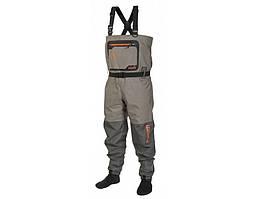 Полукомбинезон забродный мембранный Norfin FLOW 20000мм (носок неопрен) / XL