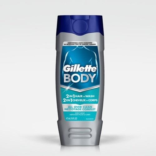 Gillette Shampooing + Gel Douche 2 in 1 354 ml USA