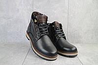 Мужские ботинки кожаные зимние черные Falcon 115/9, фото 1