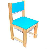 Стульчик детский деревянный ИГРУША 50 см Голубой