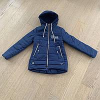 Демисезонная куртка из плащевки на девочку от 9 до 12 лет, размеры 134, 140, 146, 152