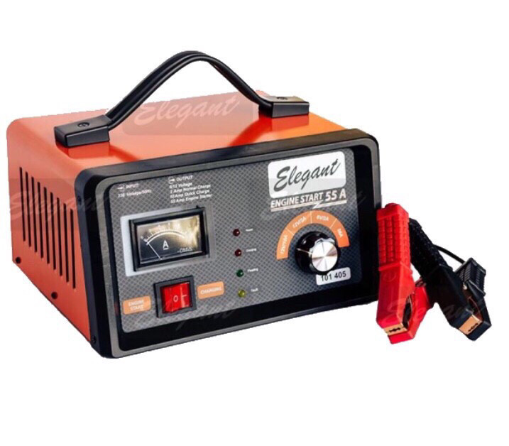 Зарядно-пусковий пристрій для акумуляторів 2/10/55А  6/12В Elegant Maxi EL 101 405