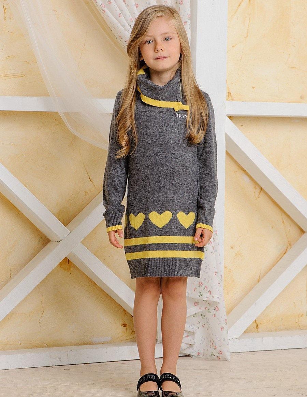 Детская туника для девочки Krytik Италия 84524/kr/00a Серый