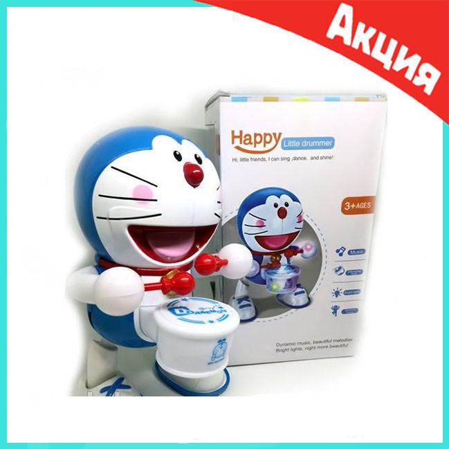 Танцующая игрушка с барабаном Dancing Happy Doraemon