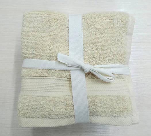 Набор полотенец 30*30 (5шт) Кремовые, фото 2