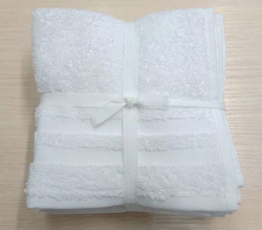 Набор полотенец 30*30 (6шт) Белые, фото 2