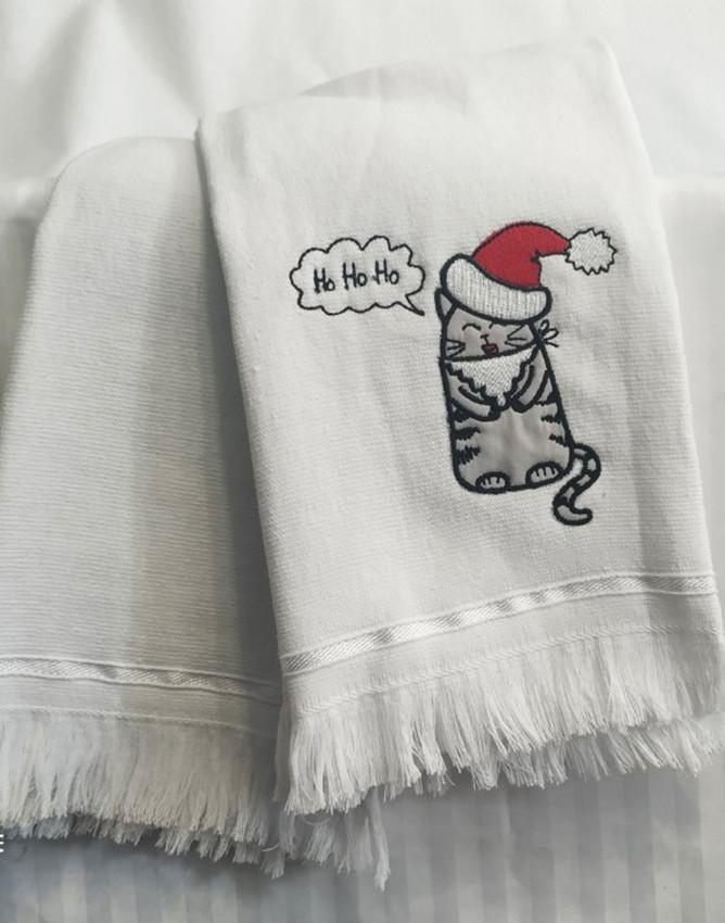 Набор полотенец 50*70 (2шт) Кот