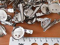 Основа заколка-брошь 20мм серебро