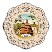 Тарілка дерев`яна. Крехів. Монастир св. Миколая отців Сину Святого Василія