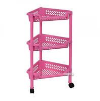 Этажерка угловая K-PLAST Розовая