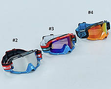 Черно-белые Мотоочки FOX AIR SPACE gasoline ACCURI Racecraft Strata PRIX GOGGLE, фото 3