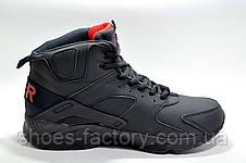 Зимові кросівки в стилі Nike Air Huarache Ultra Mid Lea, на хутрі, фото 3