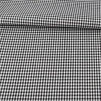 Ткань ПВХ в черно-белую гусиную лапку, ш.150