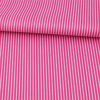 Ткань ПВХ малиновая в белую полоску, ш.150