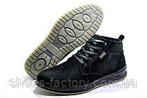 Кожаные ботинки в стиле Ecco, Зимние на меху, фото 3