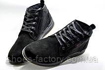 Кожаные ботинки в стиле Ecco, Зимние на меху, фото 2