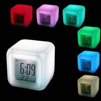 Часы CX 508, Светящиеся часы ночник, Часы с термометром, ,будильником, Часы хамелеон, Настольные часы куб