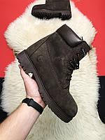 Зимние ботинки Timberland Gray Fure Premium / Тимберленд, серые (с мехом)