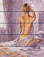 Картина по номерам на дереве  Утренее пробуждение (RA-GXT8336) 40 х 50 см