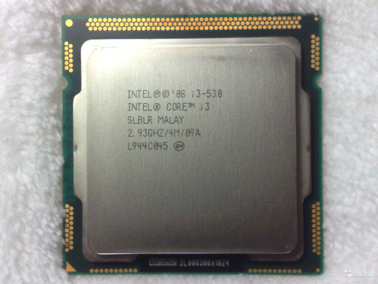 МОЩНЫЙ Процессор для ПК Intel Core i3-530, s1156, 2.93 GHz, 2ядра, 4M, 1333MHz, 73W (BX80616I3530)