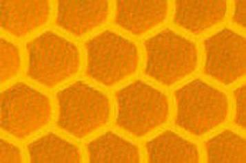 Высокоинтенсивная светоотражающая желтая пленка (соты) - ORALITE 5800 High Intensity Grade Yellow 1.235 м