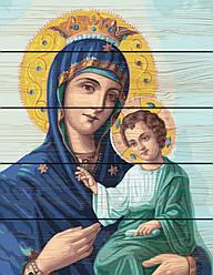 Раскраска по номерам на дереве  Иверская божья матерь (RA-GXT22600) 40 х 50 см