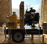 Дизельная грязевая мотопомпа Varisco VAR 6-400 FZD18 G11 TRAILER  на тележке, фото 6