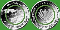 """Германия 5 евро 2019 г. G """" Умеренная зона"""" , UNC, фото 1"""