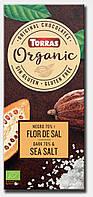 Черный шоколад Torras ORGANIC Dark chocolate Sea salt 70% какао с морской солью