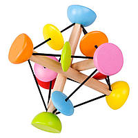 Деревянная развивающая игрушка Волшебный мяч, фото 1