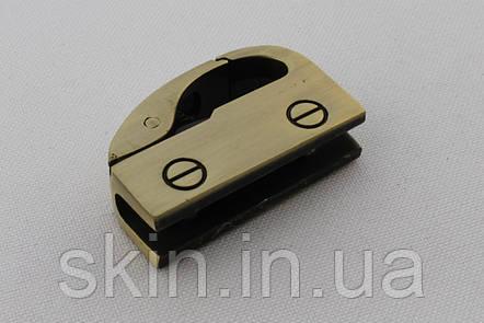 Ручкодержатель боковой, габаритные размеры 35 мм * 21 мм * 10 мм, цвет - антик, артикул СК 5574, фото 2
