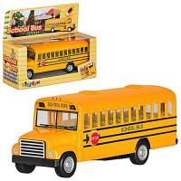 Машина метал. School Bus KS5107W  инерц., откр. двери, в коробке 14*11.5*5.5см