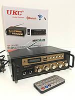 Усилитель звука UKC SN-222 BT USB, SD, AUX, Bluetooth, караоке, пульт