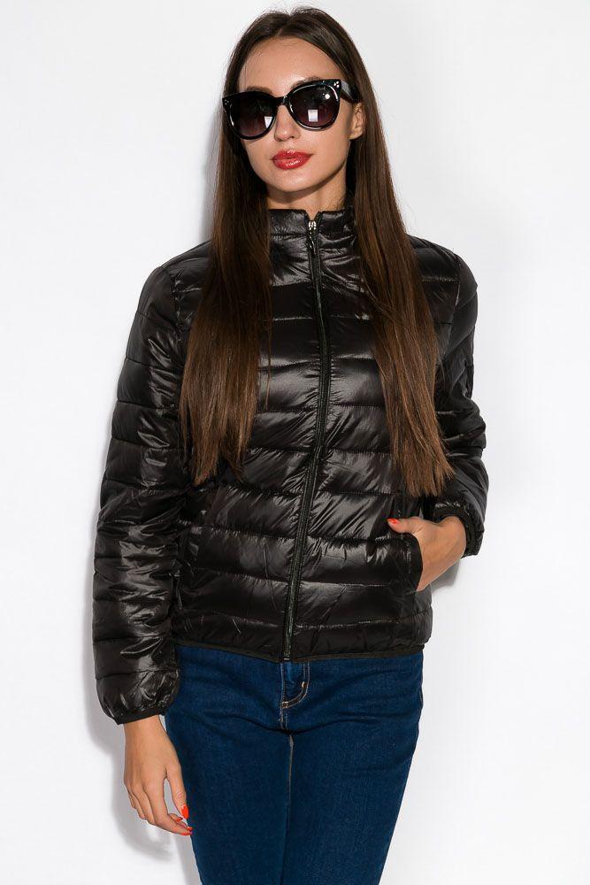 Куртка женская черная короткая
