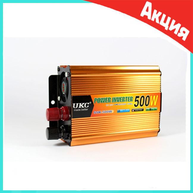 Автомобильный преобразователь напряжения инвертор AC/DC SSK 500W 24V