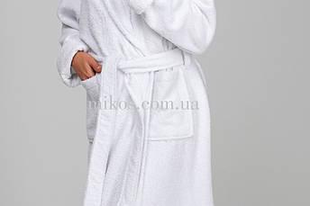 Женский халат XL, махровый,белый,100% хлопок, фото 2