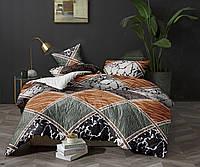 Двуспальный комплект постельного белья «Игривые ромбы» 178х215 из полиэстера
