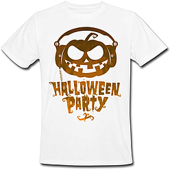 Футболка Halloween Party (белая)