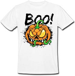 Футболка Halloween - Boo! (белая)
